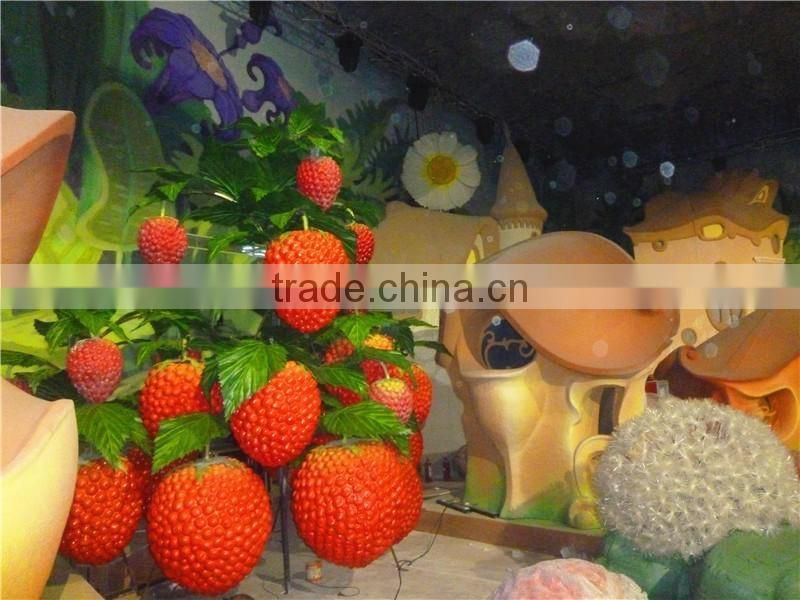 Fruit vegetable shape simulated man made sculpture watermelon statue