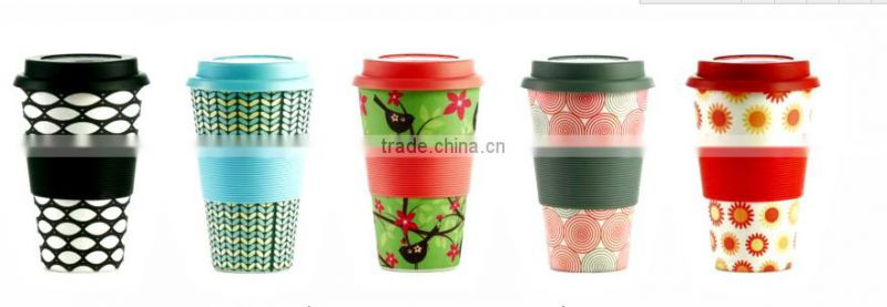 Hot-sell Eco Bamboo Fiber Coffee Cup with Print