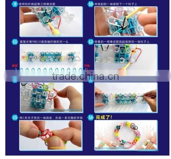 Cheap Colorful Rubber Loom Bands Kit Silicone Bands Loom Kit