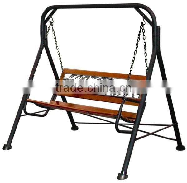 Park furniture metal and wood swing bench NTIRH-016Y