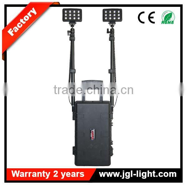IP65 waterproof rechargeable72w led outdoor work light military equipment
