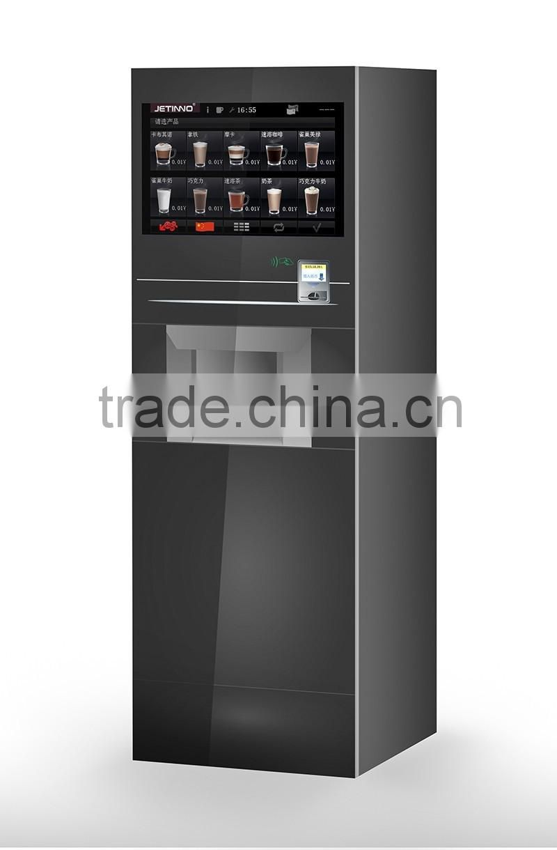 2xES8C foot standing bean to cup espresso coffee vending machine with double grinders