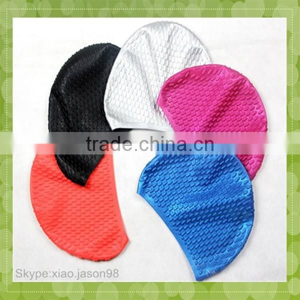 Top Quality Silicone Stylish Colorful Adult Funny Swimming Cap