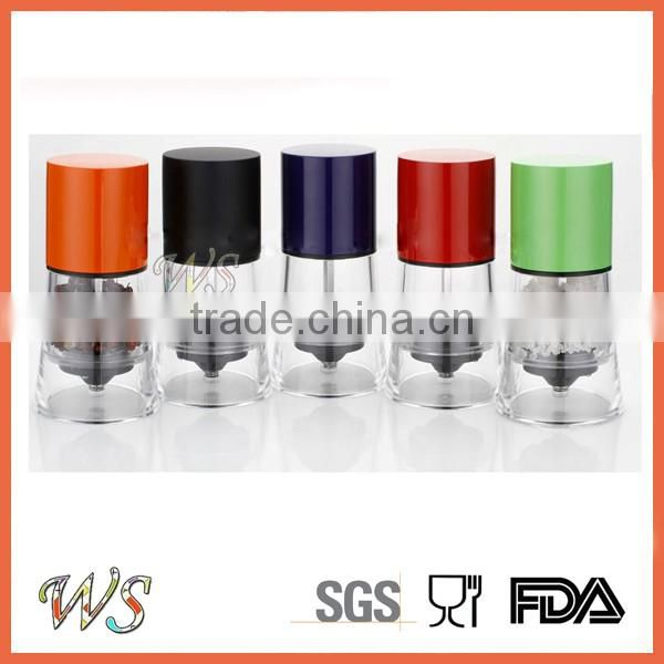 WS-PG18 Small size colorful casing Salt and pepper grinder set