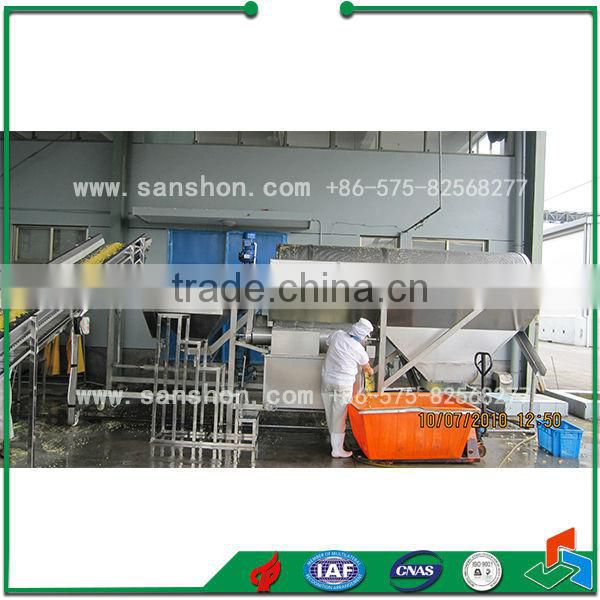 Sanshon pre-treatment product line for quick-frozen vegetable