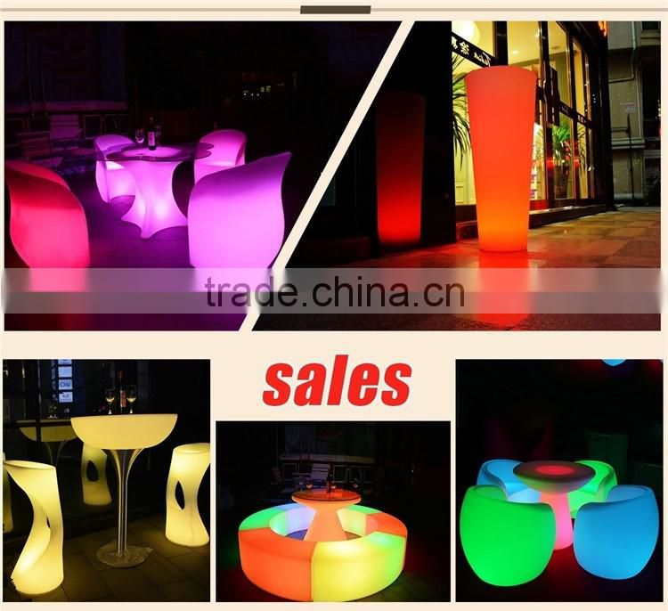 outdoor mini led battery powered cube chair light