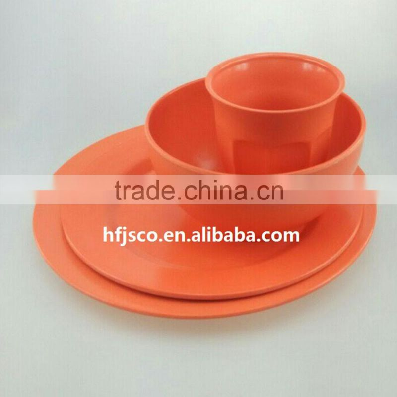 Compostable FDA certificated new products 2016 Bamboo Fiber Dinnerware Sets