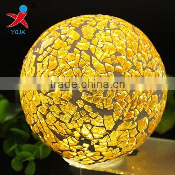 Quality craft Mosaic ball lamps/prosperous golden/quantity is with preferential treatment/glass art furnishing articles of the h