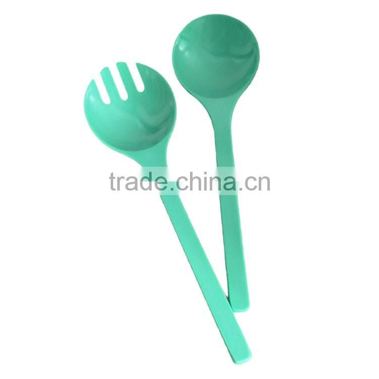 Degradable Conventional Biological bamboo fiber spoon blue