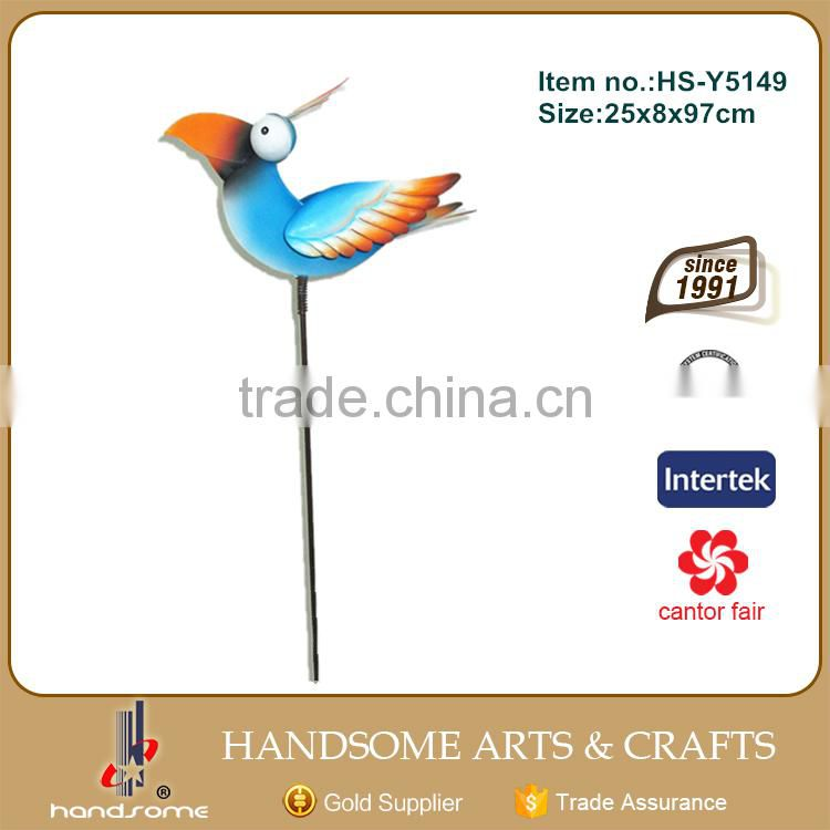 Metal Animal Bird Statue Steel Stake Garden Art Wholesale