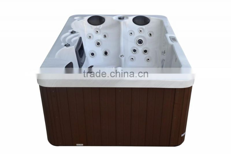 Stainless steel jets whirlpool bathtub
