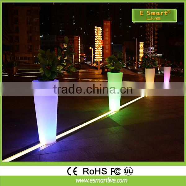 Customized high quality all-in-one led outdoor solar led plant pot light with pole 5-12m manufacture price
