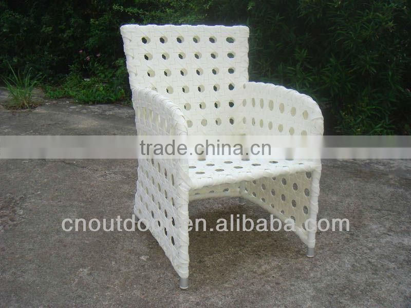 Outdoor PE Rattan Dining Set with armchair 2013