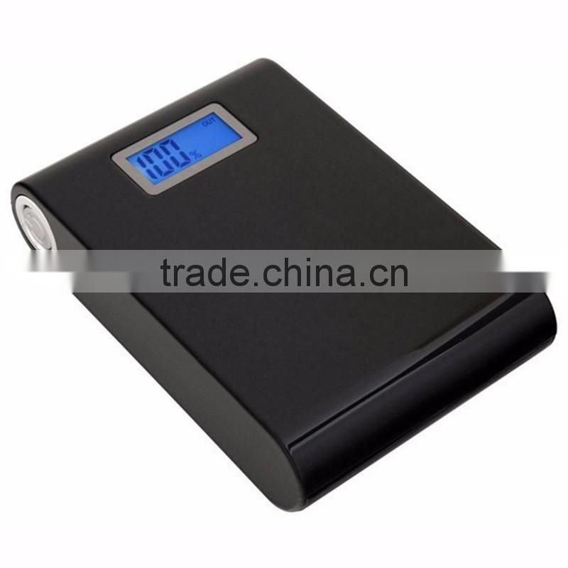 Hot sale portable mobile power bank 12000mah with digital screen led display