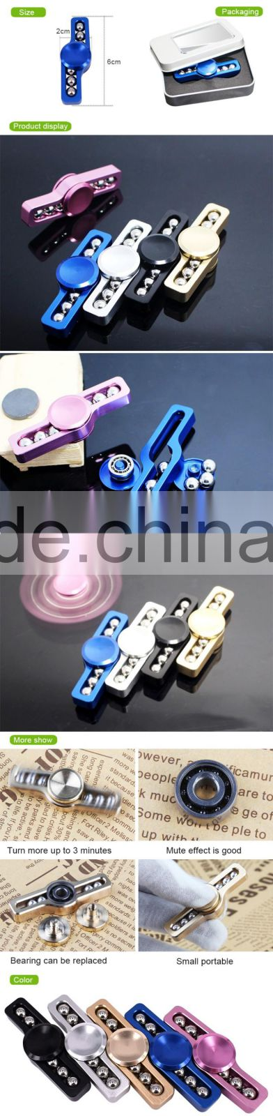 2017 high quanlity Customized long time rotation pressure reducer metal fidget spinner //