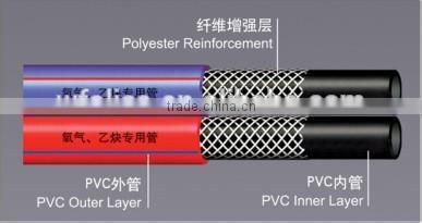 pvc oxygen& acetylene duplex hose used in welding machine
