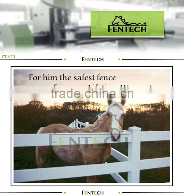 horse fencing with ball post cap