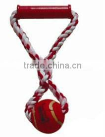 colored double cotton rope for dog chewing and playing