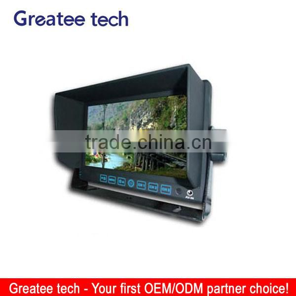 7 inch car lcd monitor 3 ways video inputs 2 way audio inputs
