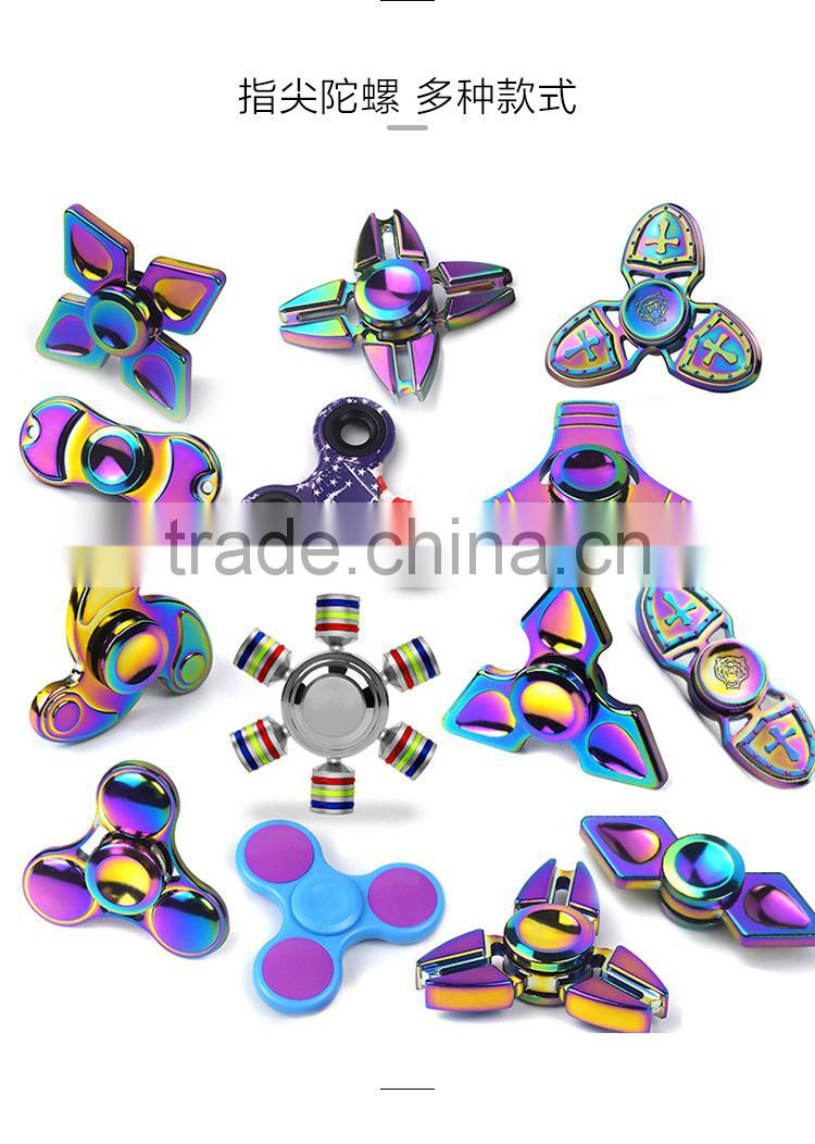 Luxury anti-corossion aluminum alloy metal fidget spinner, colorful finger spinner toys