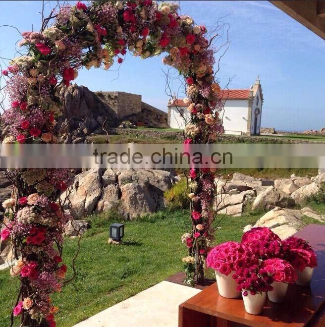 wedding stage flower arch,beautiful flower arch for stage decoration