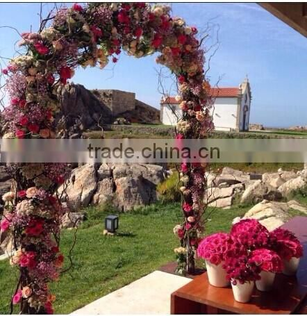 new product wedding decoration indoor & outdoor silk artificial cherry blossom arch