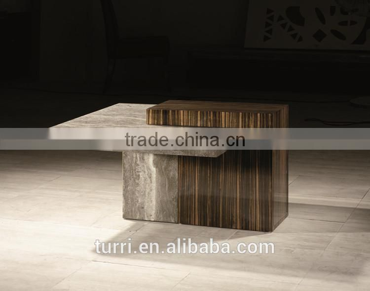 Antique Travertine end table,Living room end table