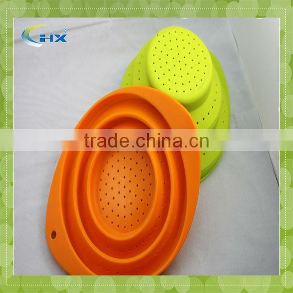 SZ*Hot Selling Silicone Folding Fruit Basket