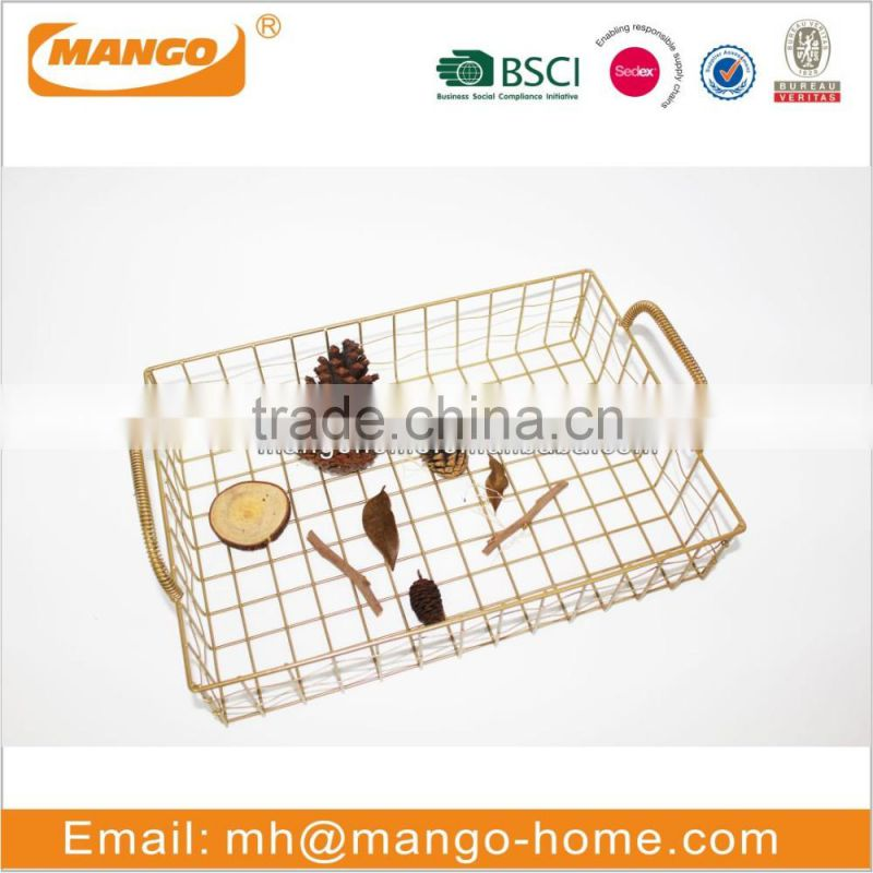 Metal Rectangular Shape Fruit Storage Basket