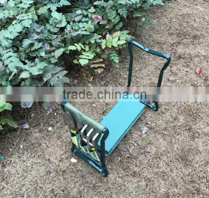 Deluxe Foldable Kneeler Seat and Gardening Tools Kit