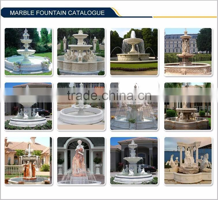Natrual Marble indoor Wall Fountain With Beautiful Flower