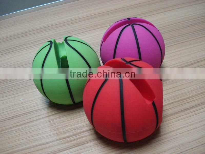 basketball shape silicone loudspeaker horn stand