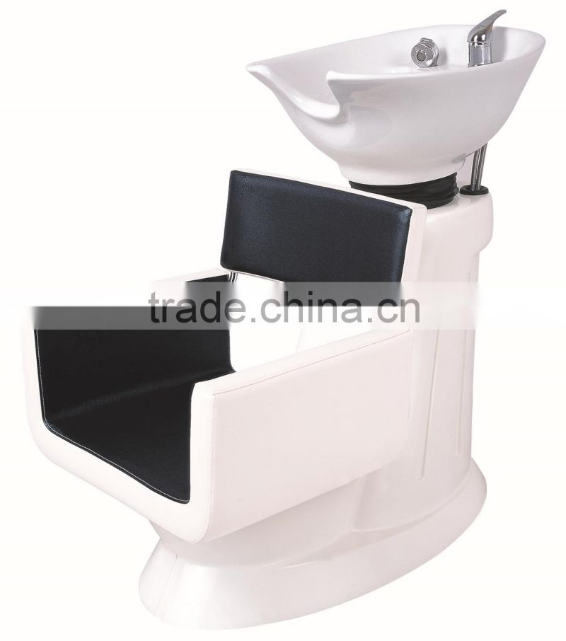 whie and black general use shampoo chair for hair washing, specific use for massage