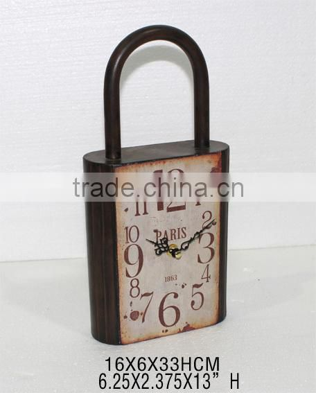 2014 New Design Lock Shape Home Decorative Clock