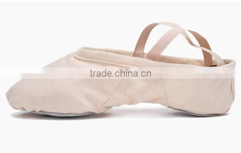 D004702 2016 Wholesale cheap canvas pointe shoes ballet dance flat shoes