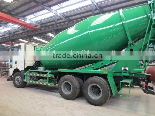 8m3-14m3 355hp FAW 6*4 Concrete Mixing Transport Truck