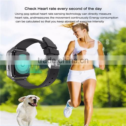 MTK2502 Smart Watch Support Heart Rate Monitor SIM Card Message Push Bluetooth Smartwatch Sports Clock for Android IOS