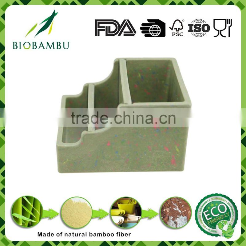 Cheap serviceable degradable bamboo pen container