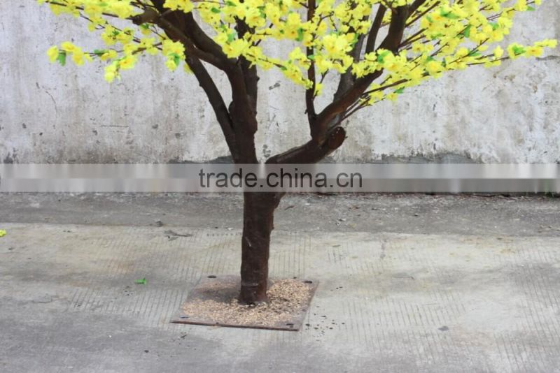 artificial peach flower tree for interior decoration