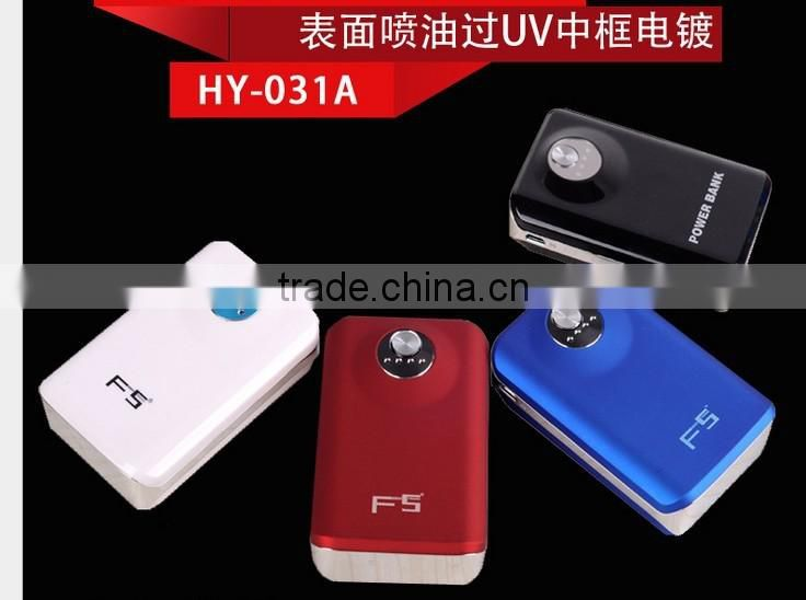Portable real capacity power bank 4000mah with CE FCC ROHS Certificate