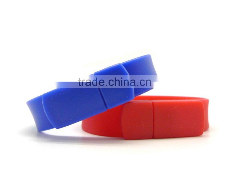 New Bracelet USB flash drive/soft silicone USB/1GB-64GB wristband USB flash drive