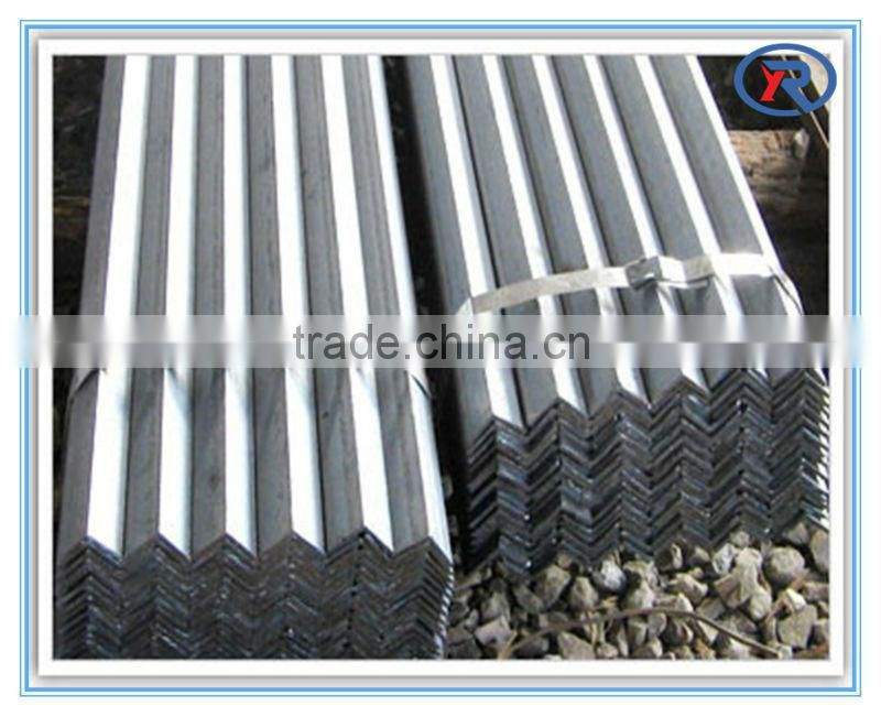MS equal black & galvanized steel angle bar Or angle steel for construction and building