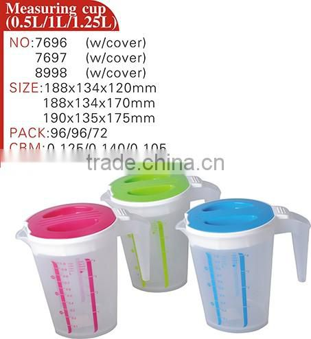 high quality color 100ml 250ml measuring cup novelty plastic disposable measuring cup with lids for medicine