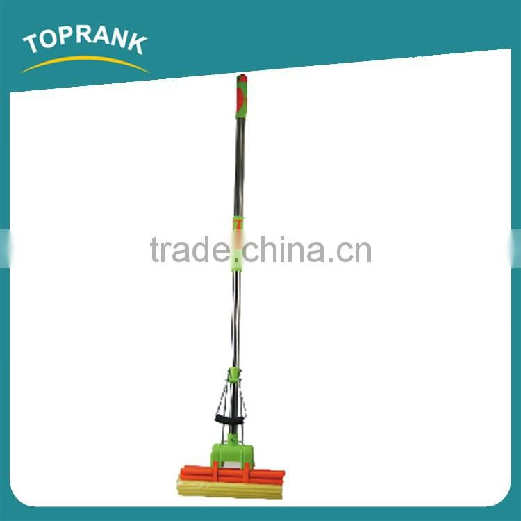 Toprank High Quality Wet And Dry Cleaner Three Roller Sponge Foam Cleaning Mop Telescopic Handle PVA Sponge Mop With TPR Handle
