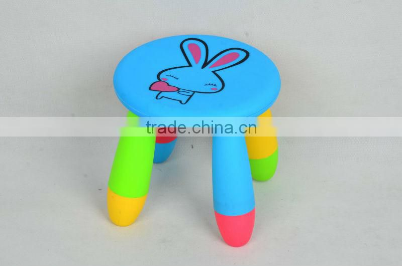 colorful Large size for durable baby/kids plastic step stool/children plastic stool