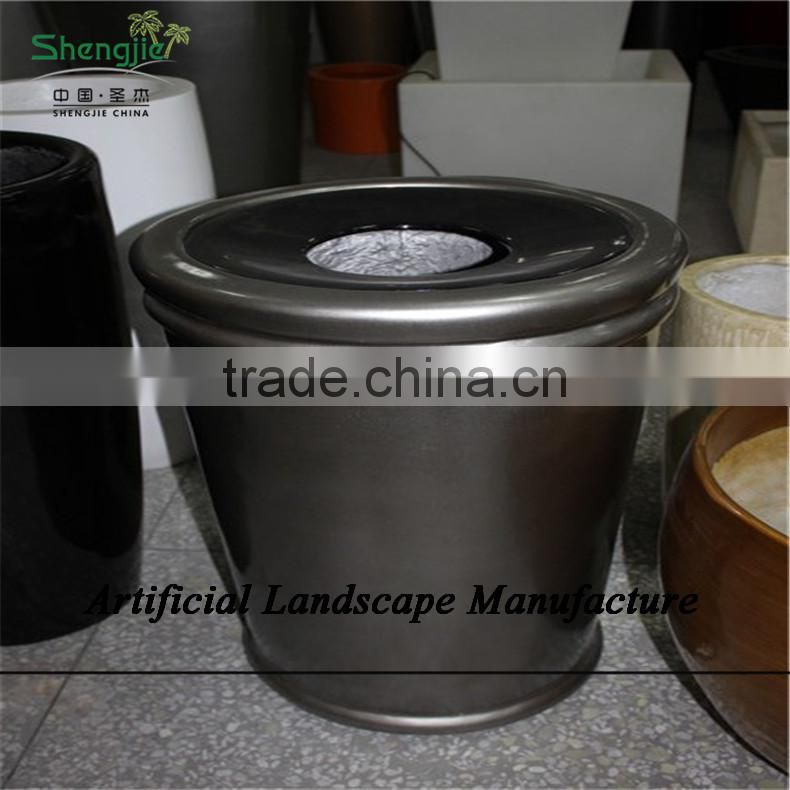 SJZJN 2644 square plant pots for wholesale outdoor use fiberglass plant pots garden pots