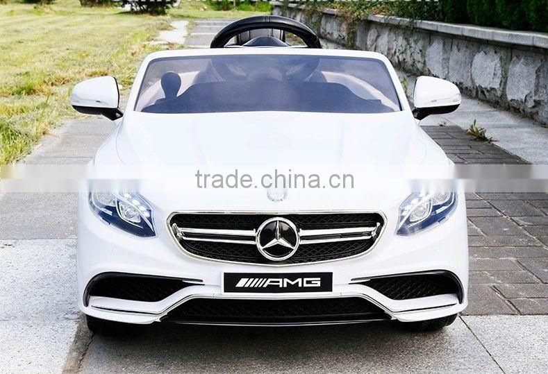 Licensed toy ride on cars Mercedes Benz ML63 children electric car 12V
