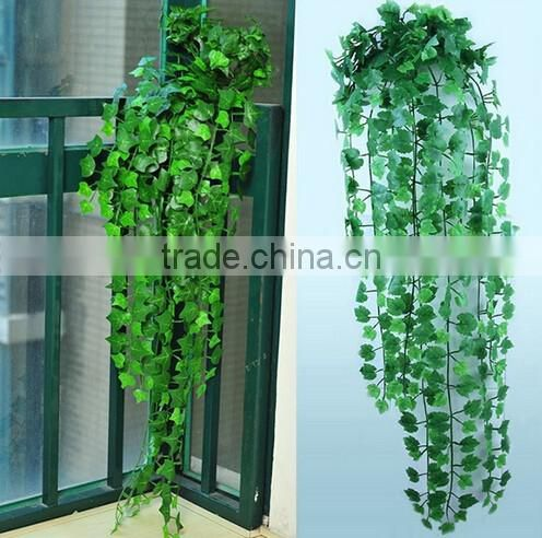 1m to 2.2m long EZ09 01066 new decoration artificial flanged plastic black green hanging bushings square