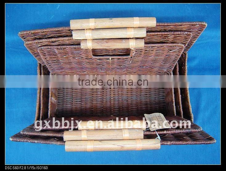 Nature awn woven storage portable book holder