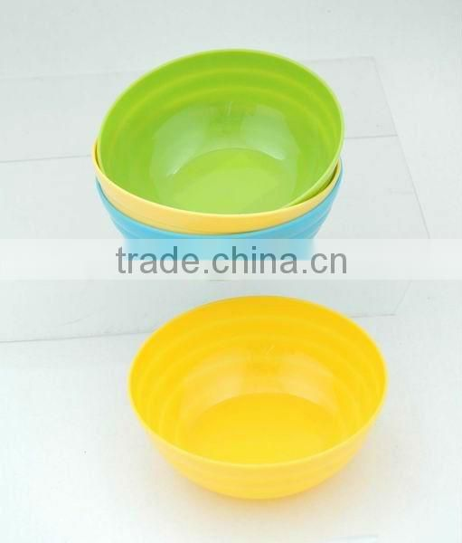 4 pcs round plastic salad bowl set